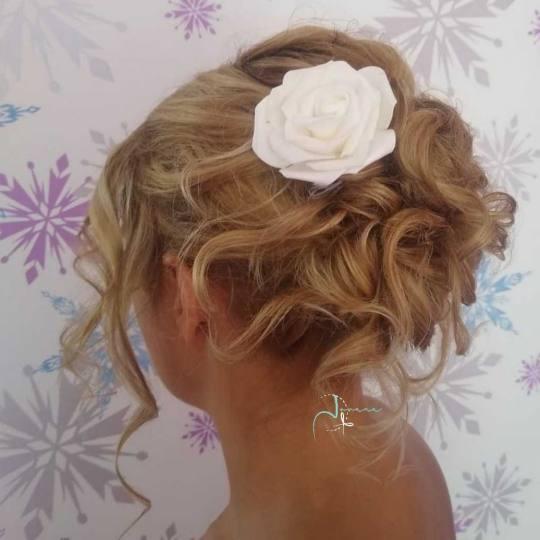 Jovana + #beograd Svečane i frizure za svadbu Svečana frizura - duga kosa