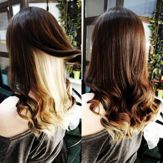 Candir #novisad Farbanje kose Blajhanje cele dužine kose - duga kosa