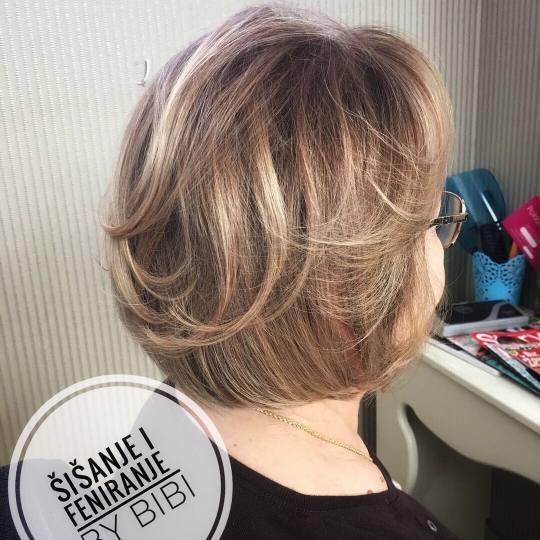 Bibi beauty centar #beograd Šišanje Žensko šišanje + feniranje na ravno / lokne - kratka kosa B
