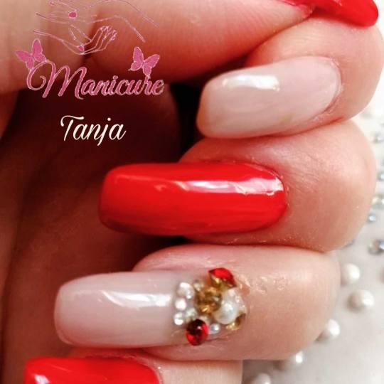Tanja style #beograd Ojačavanje noktiju Korekcija ojačavanja prirodnih noktiju gelom - dugi nokti