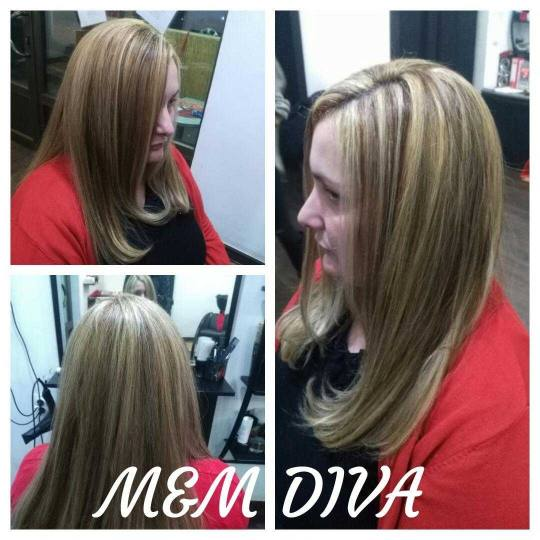M&M Diva #beograd Pramenovi Pramenovi na foliju u 2 boje / blanš - duga kosa