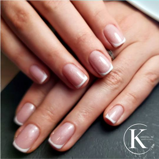 Kristal. NI Beauty Studio #nis Gel lak Gel lak french - ruke