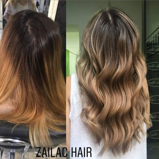 Zailac hair #beograd Ombre, sombre, balayage Balayage / pramenovi + žensko šišanje + feniranje +