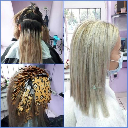 Jovana + #beograd Pramenovi Pramenovi na foliju + preliv - duga kosa