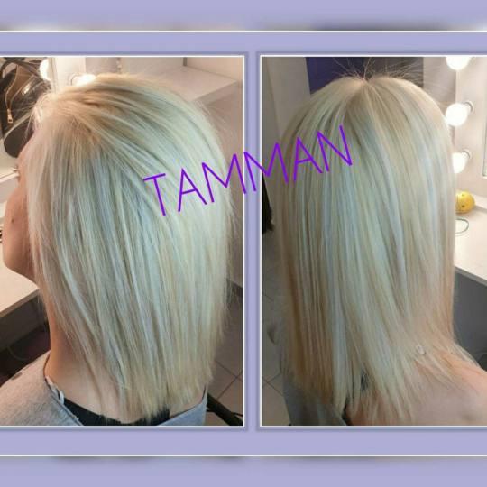 Salon lepote Tamman #beograd Blajhanje kose Blajhanje korena + preliv - kosa srednje dužine