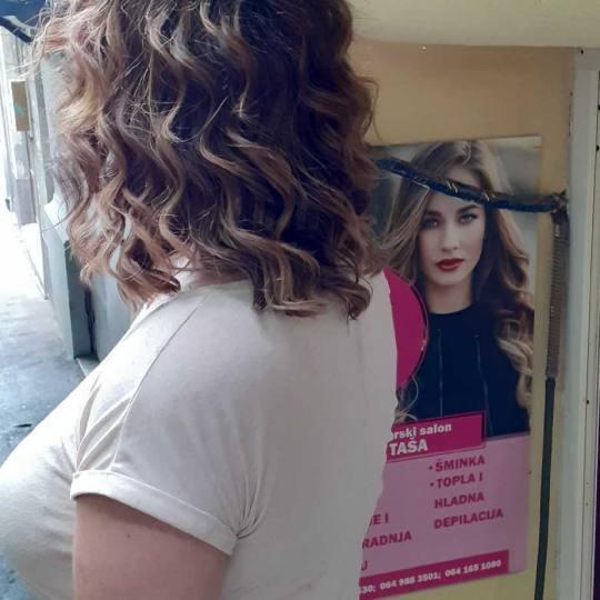 Taša #beograd Farbanje kose Ombre / sombre / balayage + preliv - srednja kosa
