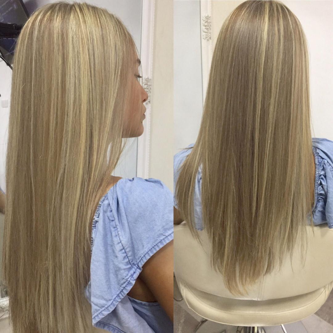 LookBook Rič Balayage + preliv + feniranje na ravno / lokne + Olaplex tretman - kosa srednje dužine