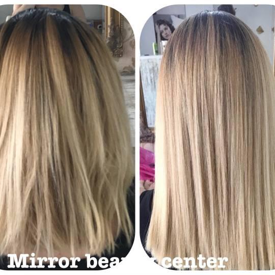 Mirror Beauty Centar #beograd Ispravljanje kose Brazilsko ispravljanje kose - kosa srednje dužine