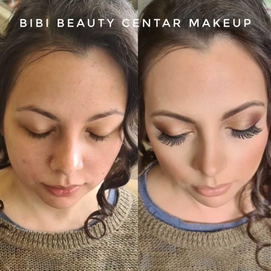 Bibi beauty centar #beograd Make-up / šminkanje Profesionalno šminkanje + veštačke trepavice bib