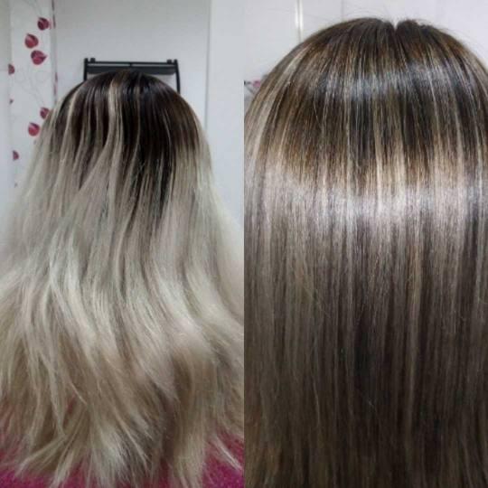 Hairrific #novisad Pramenovi Pramenovi na foliju u 2 / 3 boje - kosa srednje dužine pre i posle