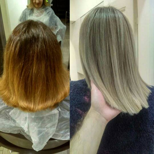Zailac hair #beograd Ombre, sombre, balayage Balayage / pramenovi + žensko šišanje + feniranje -