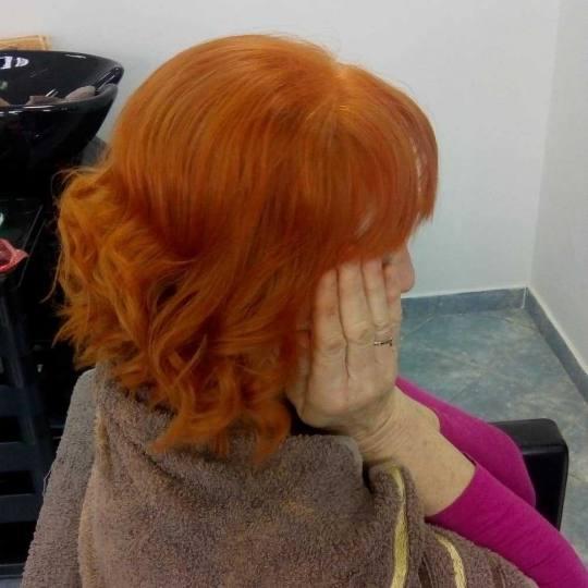 Milica Vlado Profesional #novisad Farbanje kose Farbanje cele dužine - kosa srednje dužine