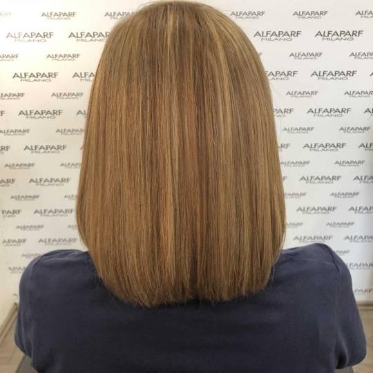 Alfaparf Studio #beograd Pramenovi Izvlačenje pramenova blanšem + preliv - kosa srednje dužine