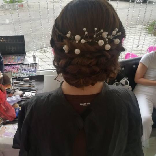 Plavi anđeo #beograd Svečane i frizure za svadbu Svečana frizura - složena