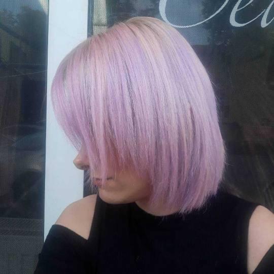 Beauty Team #novisad Farbanje kose Preliv cele dužine - kosa srednje dužine Boja lavande :)