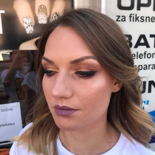 Hair Studio K1 #beograd Make-up / šminkanje Profesionalno šminkanje + veštačke trepavice