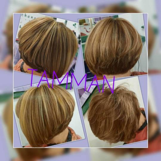 Salon lepote Tamman #beograd Pramenovi Pramenovi na foliju + preliv - kosa srednje dužine