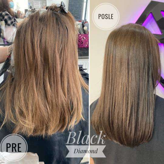Black Diamond 13 Hairstudio #beograd Pramenovi Pramenovi na foliju - kosa srednje dužine