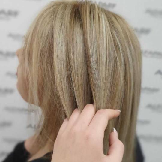 Alfaparf Studio #beograd Pramenovi Izvlačenje pramenova blanšem + bojom - duga kosa