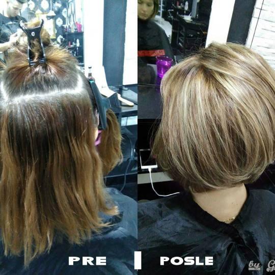 Headroom #beograd Pramenovi Pramenovi - kosa srednje dužine Totalna transformacija