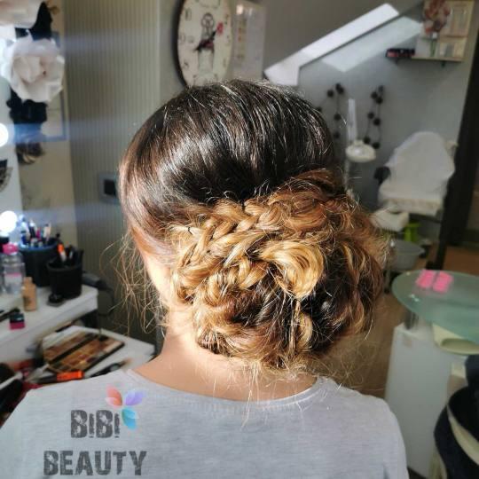 Bibi beauty centar #beograd Svečane i frizure za svadbu Svečana frizura - kosa srednje dužine sve