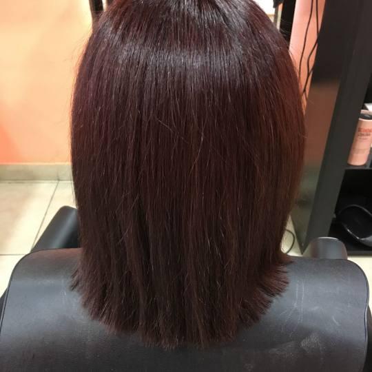Hair Studio K1 #beograd Keratinski tretmani Keratinsko ispravljanje kose - srednja dužina kose Kosa