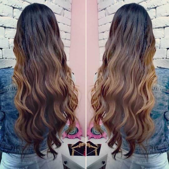 Beauty Express bar #beograd Feniranje i stilizovanje Feniranje na ravno / talase - duga kosa