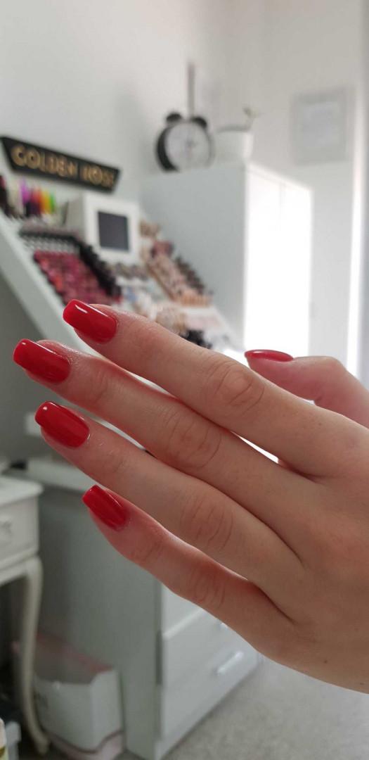 LookBook Tina B Izlivanje noktiju gelom boja / french - duži nokti