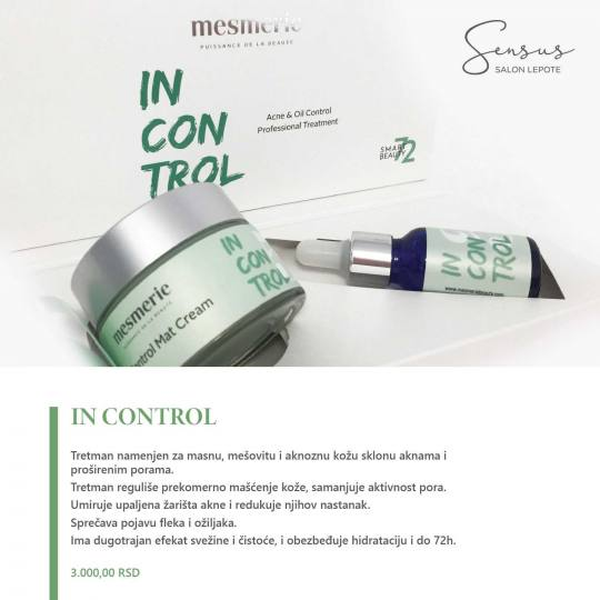 Sensus #beograd Tretman lica In Control 72 tretman lica Tretman lica