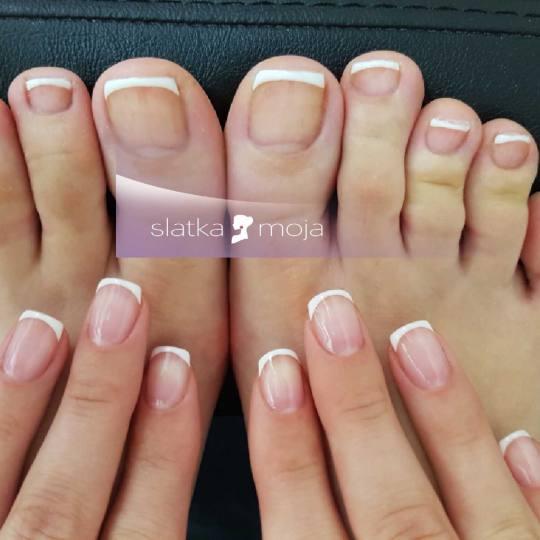 Slatka moja #beograd Gel lak Gel lak + french - ruke i gel lak stopala