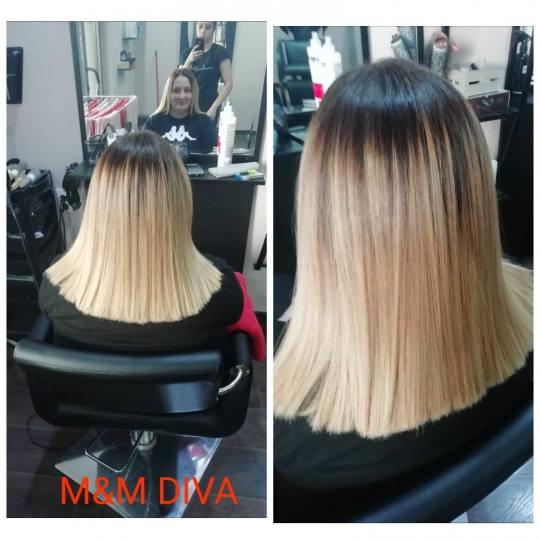 M&M Diva #beograd Feniranje i stilizovanje Feniranje na ravno - kosa srednje dužine