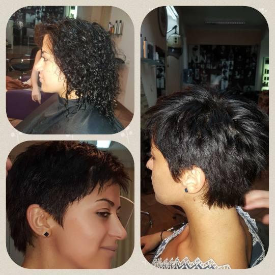 Bubi #beograd Šišanje Žensko šišanje - kosa srednje dužine Šišanje