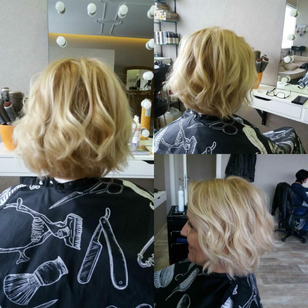 LookBook Vortex Žensko šišanje i feniranje - kosa srednje dužine