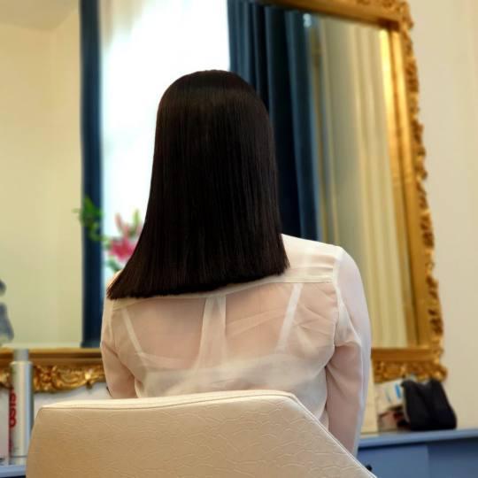 Estetic star by Maya #beograd Keratinski tretmani Keratinsko ispravljanje kose - srednja kosa bob fr