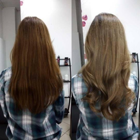 Hairrific #novisad pre i posle, korekcija boje koja podrazumeva blanširanje i farbanje kose
