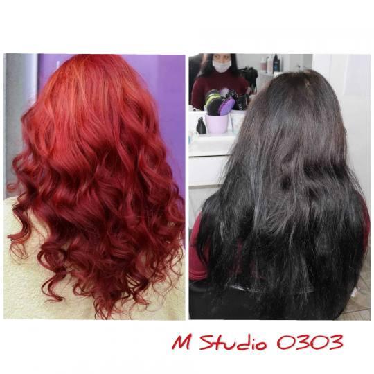 M Studio 0303 #novisad Blajhanje kose Blajhanje cele dužine + preliv + feniranje - duga kosa ❤️