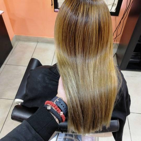 Hair Studio K1 #beograd Farbanje kose Pramenovi sa prelivom na foliju - srednja dužina kose Posle