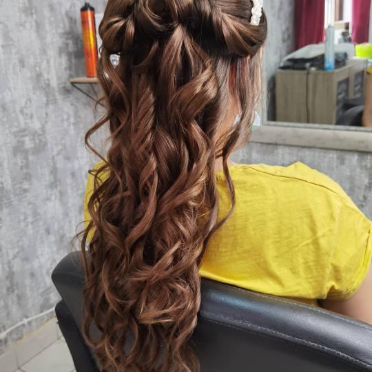 Sanja Afro Frizerka #nis Svečane i frizure za svadbu Svečana frizura - za mladu