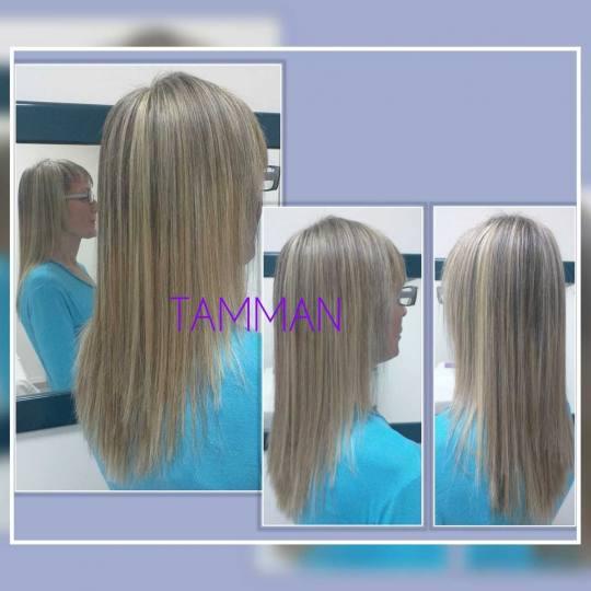 Salon lepote Tamman #beograd Pramenovi Pramenovi na foliju + preliv - duga kosa