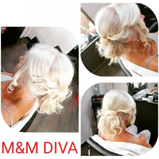 M&M Diva #beograd Svečane i frizure za svadbu Svečana frizura - složena frizura