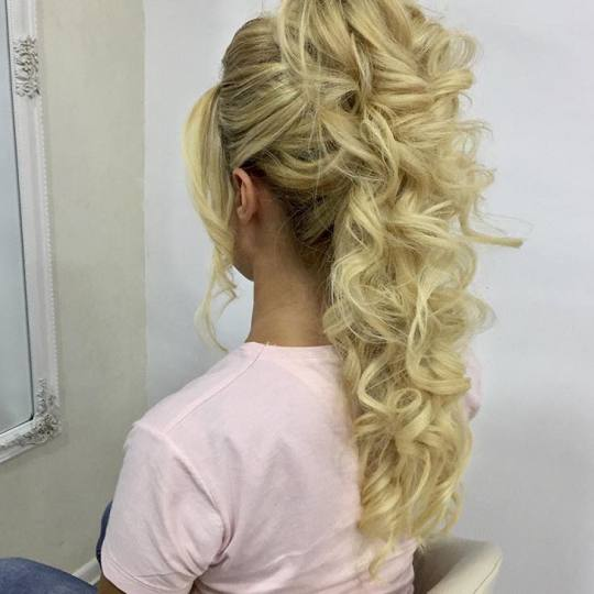 Rič #novisad Svečane i frizure za svadbu Svečana frizura - sve dužine kose Nasa frizura