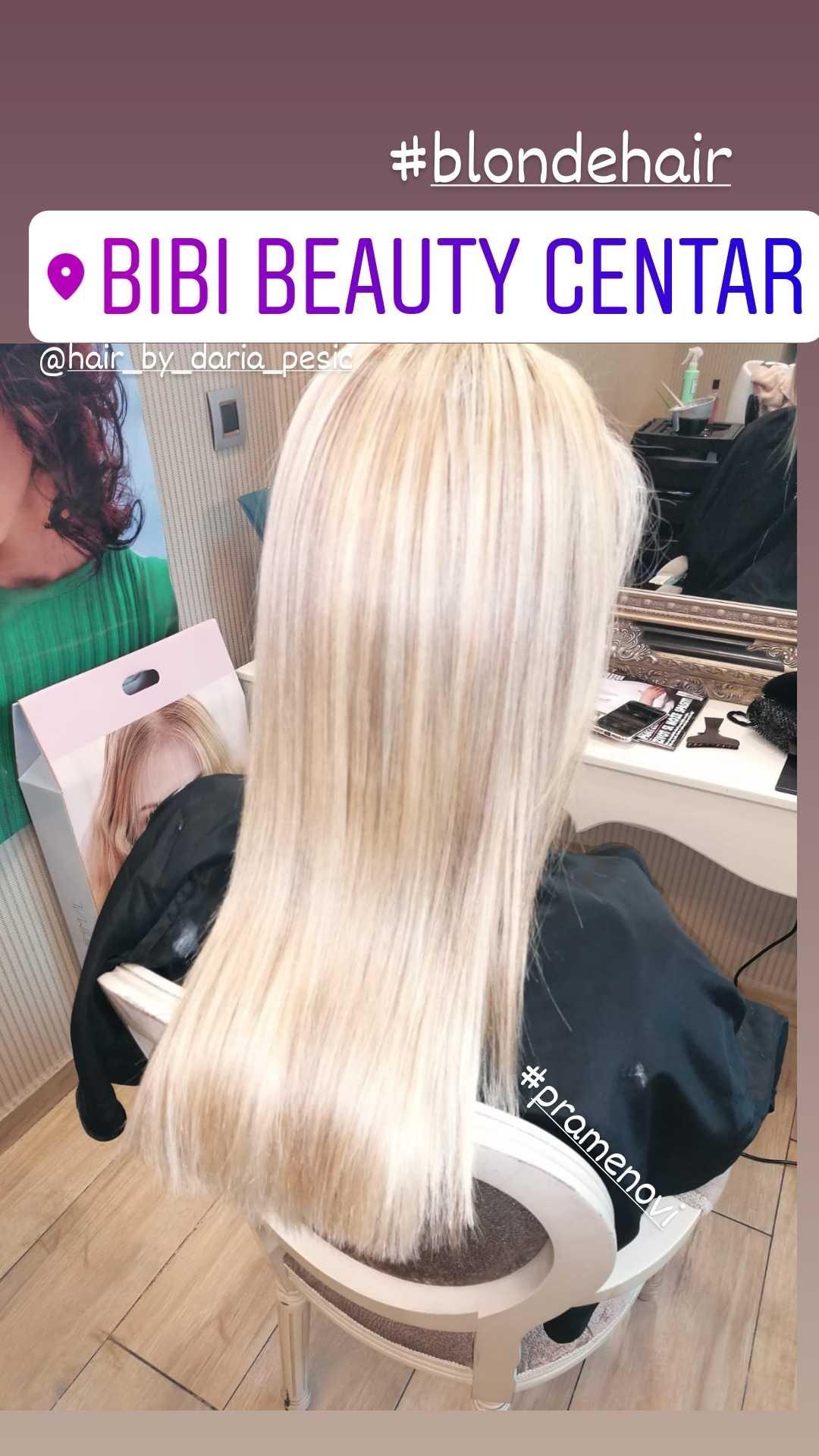 LookBook Bibi beauty centar Pramenovi na foliju u 1 / 2 boje / blanšem + preliv - kosa srednje dužine