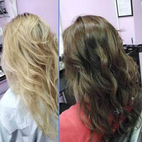 Jovana + #beograd Farbanje kose Farbanje cele dužine - ekstra duga kosa