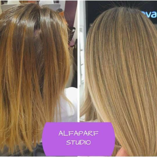 Alfaparf Studio Ada Mall #beograd Pramenovi Pramenovi na foliju + preliv - ekstra duga kosa