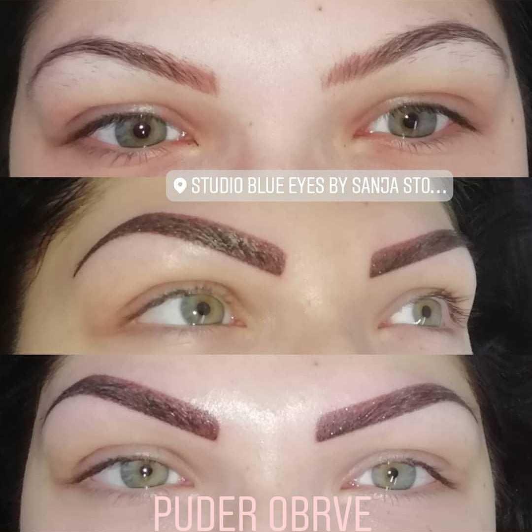 LookBook Blue Eyes Senčenje obrva - powder eyebrows