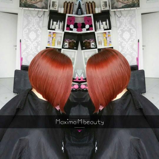 Maxima M #beograd Žensko šišanje Šišanje + feniranje - kosa srednje dužine sisanje