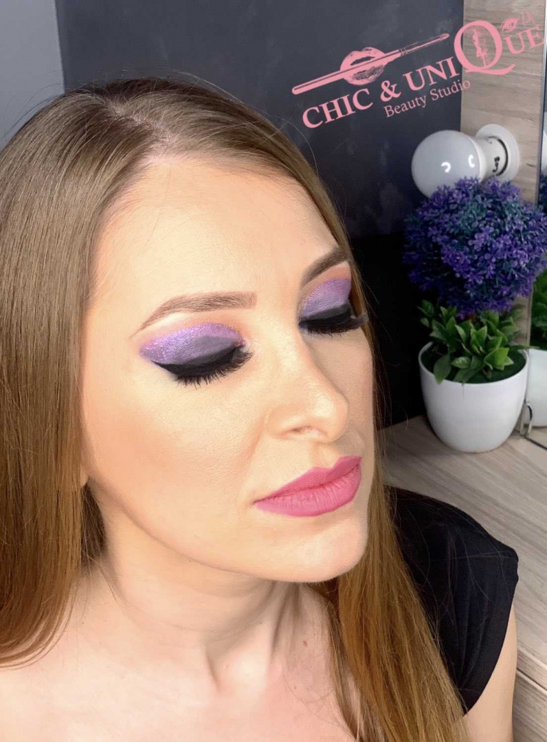 LookBook Chic & Unique Akcija - Profesionalna večernja šminka + veštačke trepavice