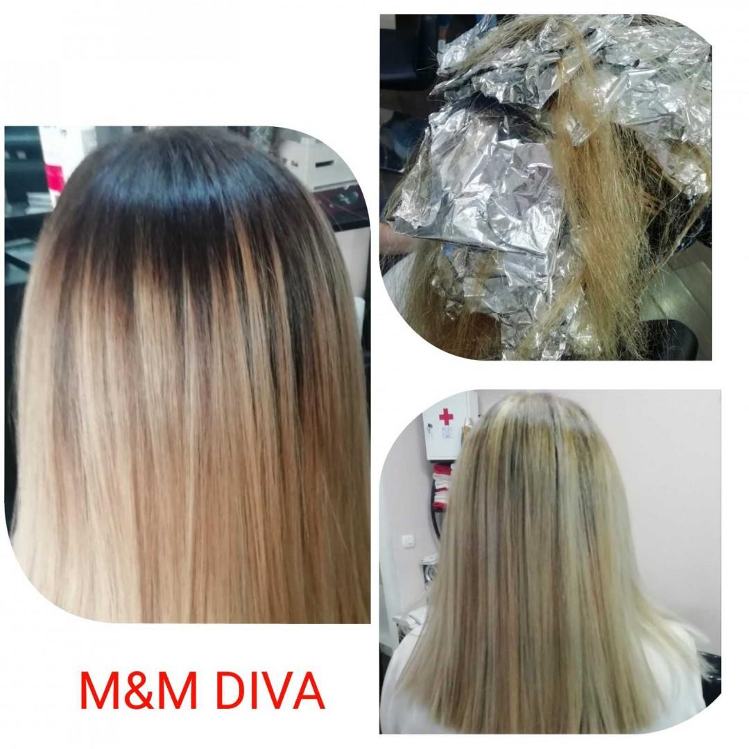 LookBook M&M Diva Pramenovi na foliju 1 boja / blanš - kosa srednje dužine