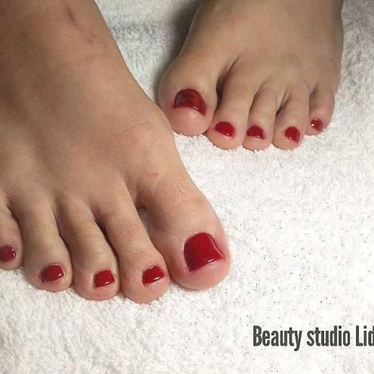 Beauty studio Lidija #beograd Estetski pedikir Estetski pedikir + gel lak