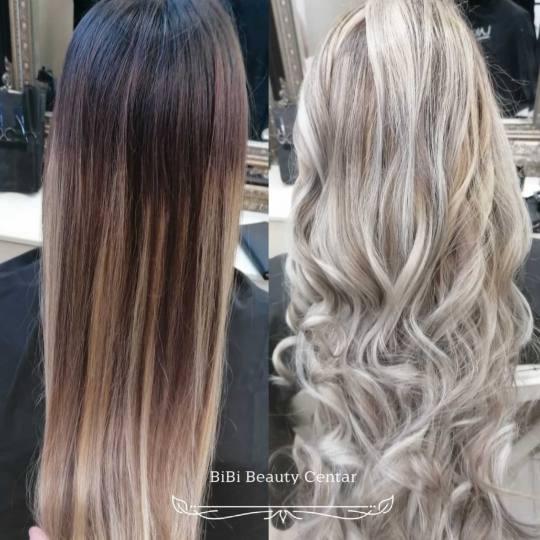 Bibi beauty centar #beograd Pramenovi Pramenovi na foliju u 1 / 2 boje / blanšem - ekstra duga kosa